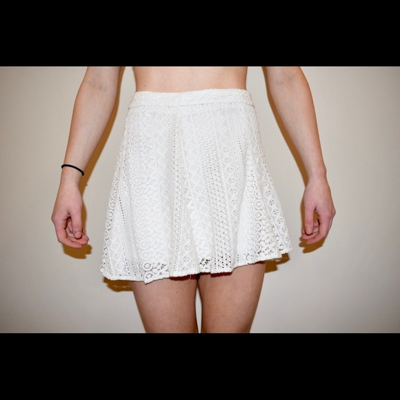 77e55966d H&M Skirts | Hm Divided White Lace Mini Skirt | Poshmark